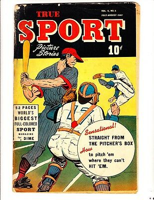 True Sport Picture Stories Vol 4, #2 (1947): FREE to combine- in Good condition