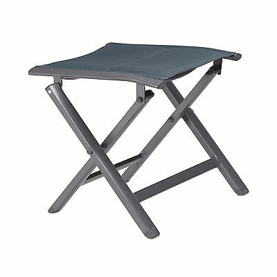 Aluminium Folding Stool for the Garden, Camping, 40 cm Tall, Backless Bench