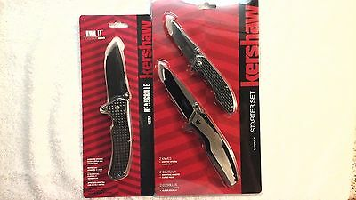 3 New Kershaw Knives Headgrille 1325 & Starter Set Assisted Opening Knife buck