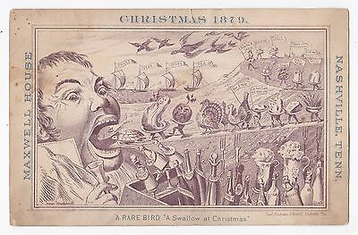 Maxwell House - Nashville, Tennessee - 1879 Christmas Advertising / Trade Card