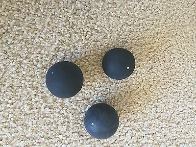 1 yellow DOT SQUASH BALL 2 available and 1 blue dot ball total=3