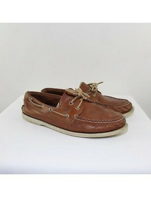 SPERRY Men's Brown Leather Boat Shoes Size 11.5M