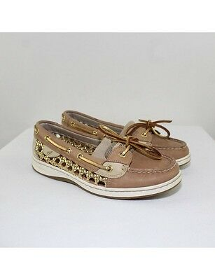 SPERRY Ladies Tan Leather Boat Shoes Size 7M