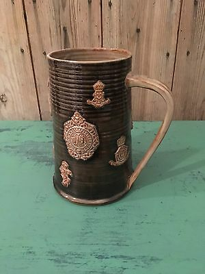 British Army Military Commemorative Beer Stein Wold Pottery England Rare