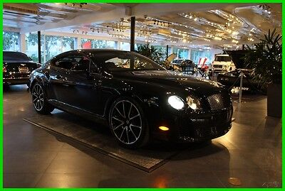 2010 Bentley Continental GT SUPERSPORTS WITH REAR SEATING VERY RARE MUST SEE! BLACK OVER BLACK SUEDE HIDES WITH FULL SEATING VERY RARE OVER $273K NEW!!!