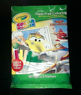 Crayola Color Wonder Disney Planes Coloring Book and Markers NEW