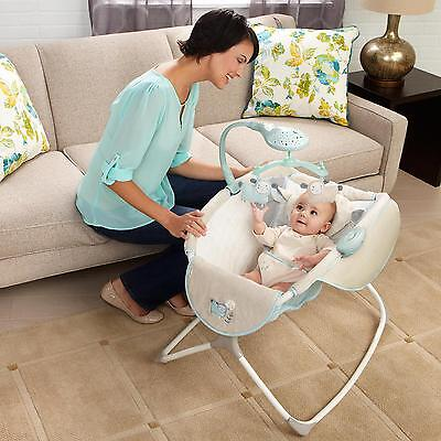 Rocking Baby Sleeper Bassinet Cradle Newborn Infant Crib Bed