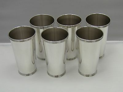 """Rare Manchester Silver Co. #33 Tall Sterling Silver Mint Julep Cups 5""""/Set of 6"""