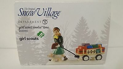 Dept 56 Snow Village Girl Scout Cookie Time 4050991  New MIP