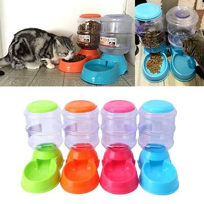 3.5L Large Automatic Pet Food Dispenser Feeder Bowl Dish For Pets Cat Dog Puppy