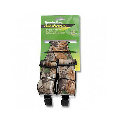 """Remington 18362 RealTree Camouflage Hunting Suspenders Adj to 45"""" Made in USA"""