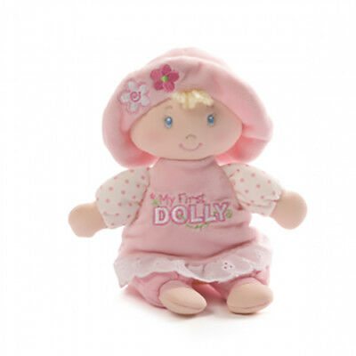 My First Dolly Rattle Doll Toy by Gund Soft Plush Baby Toy Safe Girls New 18 cm