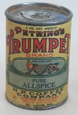 Trumpet Spice Tin: Colorful, Graphic, Full