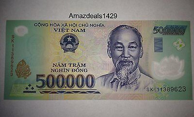 1 x 500,000 VIETNAM BANKNOTE HALF MILLION CURRENCY DONG 500.000 BANK NOTE 500000