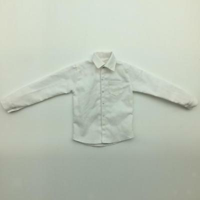 1/6 Scale White Long Sleeve Dress Shirt for 12'' Hot Toys Male Action Figure