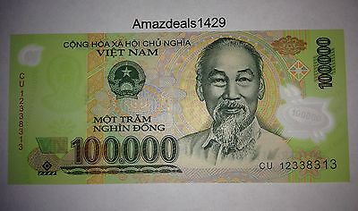 1 x 100,000 VIETNAM DONG BANK NOTE VIETNAMESE CURRENCY VND BANKNOTE - US SELLER