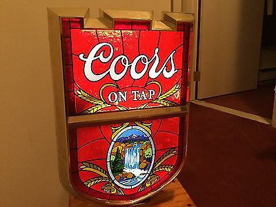 Coors Beer Light Up Wall Advertisement-FINAL LISTING