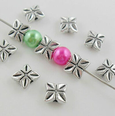 Free Shipping Wholesale 30Pcs Tibetan Silver Spacer Beads For Jewelry 7.5x3mm