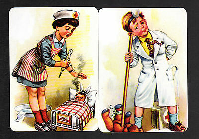Wide Swap/Playing Cards-Nursery Rhyme Miss Polly and Her Sick Dolly & Doctor x 2