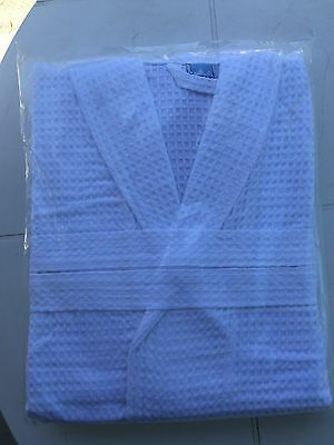 Brand New X 2 White Waffle Robes Sealed In Pack.