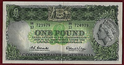 R34b - ONE POUND Coombs/Wilson ERROR note MISMATCHED NUMBERS, natural crisp gVF.