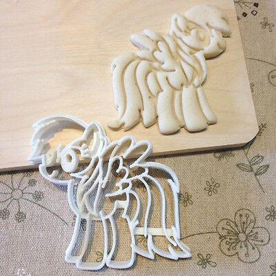 My Little Pony Rainbow Dash Cookie Cutter - Fondant Cake Cupcake Topper Tool MLP