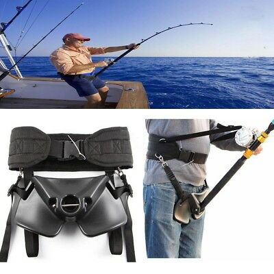 Adjustable Boat Sea Fishing Waist Support Rod Holder Stand Up Fighting Belt  AU