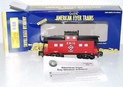 American Flyer Trains 6-48733 Erie Railroad illuminated red caboose lightd C107