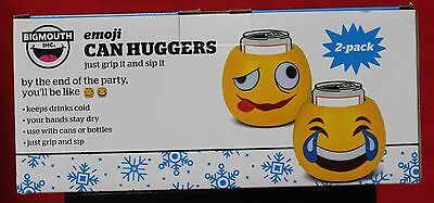 EMOJI CAN HUGGERS Set of 2 Can Or Bottle Koozie Holder NEW in Box by BIGMOUTH