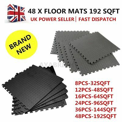 96 x Interlocking Soft EVA Foam Mats Kids Play/Garage/Gym/Exercise Floor Tiles
