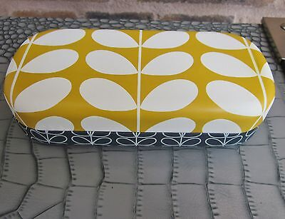 Orla Kiely Sunglasses/glasses Case With Cleaning Cloth Yellow Stem Design New