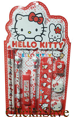 Kids Hello Kitty Stationary Set With Hello Kitty Note Book