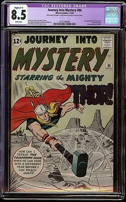 Journey into Mystery # 86 CGC 8.5 White (Marvel, 1964) Slight Resto, 2nd Odin