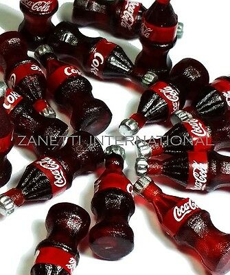 20 Dollhouse Miniature Cola Bottles * Doll Mini Food Coke Soda Wholesale Set