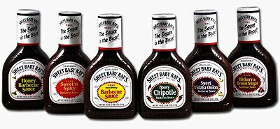 Sweet Baby Ray's Barbecue Sauce 18oz/510g  x 5 - Your Choice From 6 Flavours