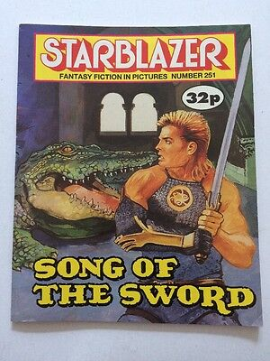 Starblazer Fantasy Fiction in Pictures 1989 Sci Fi No 251 Song of the Sword