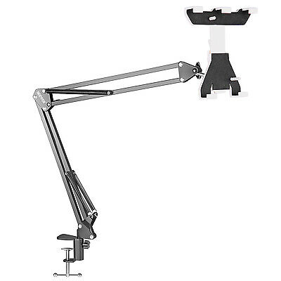 Neewer iPad Pads Table Susppension Arm Stand Adjustable Clamp Clip Holder