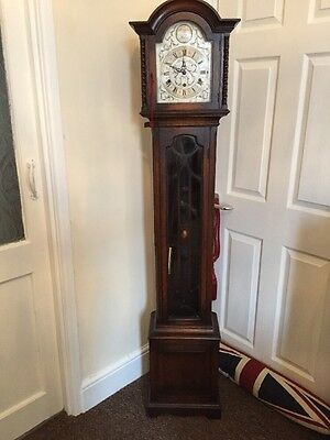 Antique Oak Grandmother / Miniature Grandfather Clock !!RARE!!