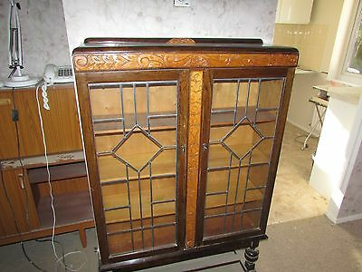 Leaded Glass Display cabinet