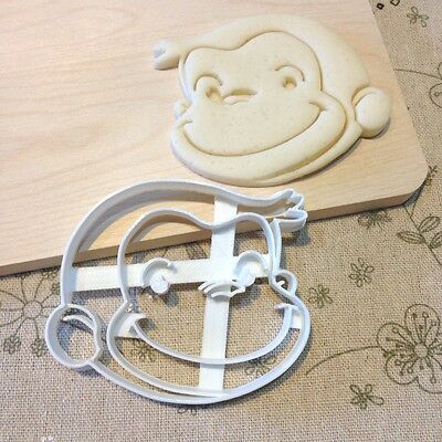 Curious George Cookie Cutter - Fondant Icing Cake Cupcake Topper Monkey Birthday