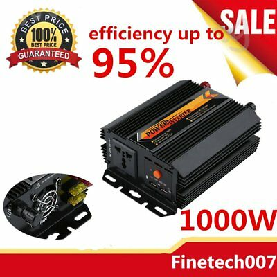 Modified Sine Wave Power Inverter 1000W 1500W 12V-240V LCD Display For Toyoto PK