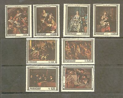 Paraguay  1967  Paintings, MH.