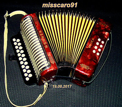 New Reeds !!  G/c German  Diatonic Hohner Erica  Button  Accordion + New Gigbag