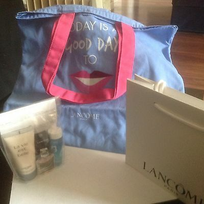 Lancome Gift Set/HOLIDAYS/BIRTHDAY/Party/4-Item+Tote Bag/New/Ideal Gift/Travel.