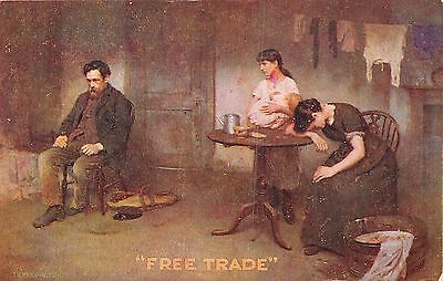 """POSTCARD   POLITICS   """" FREE  TRADE  """"     Vote  for  PAGE  &  BECK"""