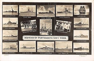 POSTCARD  SHIPS  PORTSMOUTH   Navy  Week