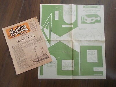 HOBBIES WEEKLY MAGAZINE MAY 17th 1950 FREE DESIGN O GAUGE RAILWAY GOODS SHED