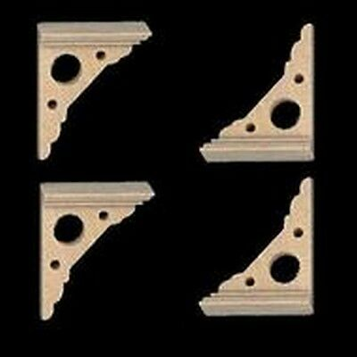 Eaves Brackets 4 Pack, Dolls House Fixtures & Fittings, Decor, Miniatures