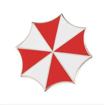 Resident Evil Umbrella Corporation Embroidered Logo Metal Badge Brooch Pin US083