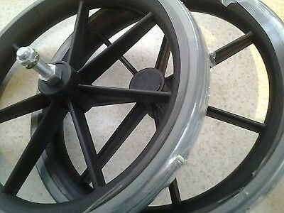 Lomax Wheelchair  Rear Wheel With Solid Tyre 315mm ( 12.5in ) A PAIR fits Mojo